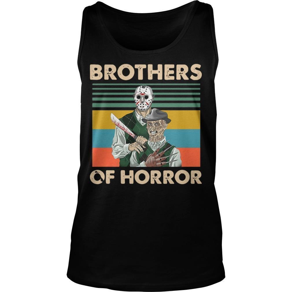 Vintage Jason Voorhees Freddy Krueger Brothers Of Horror Tank Top