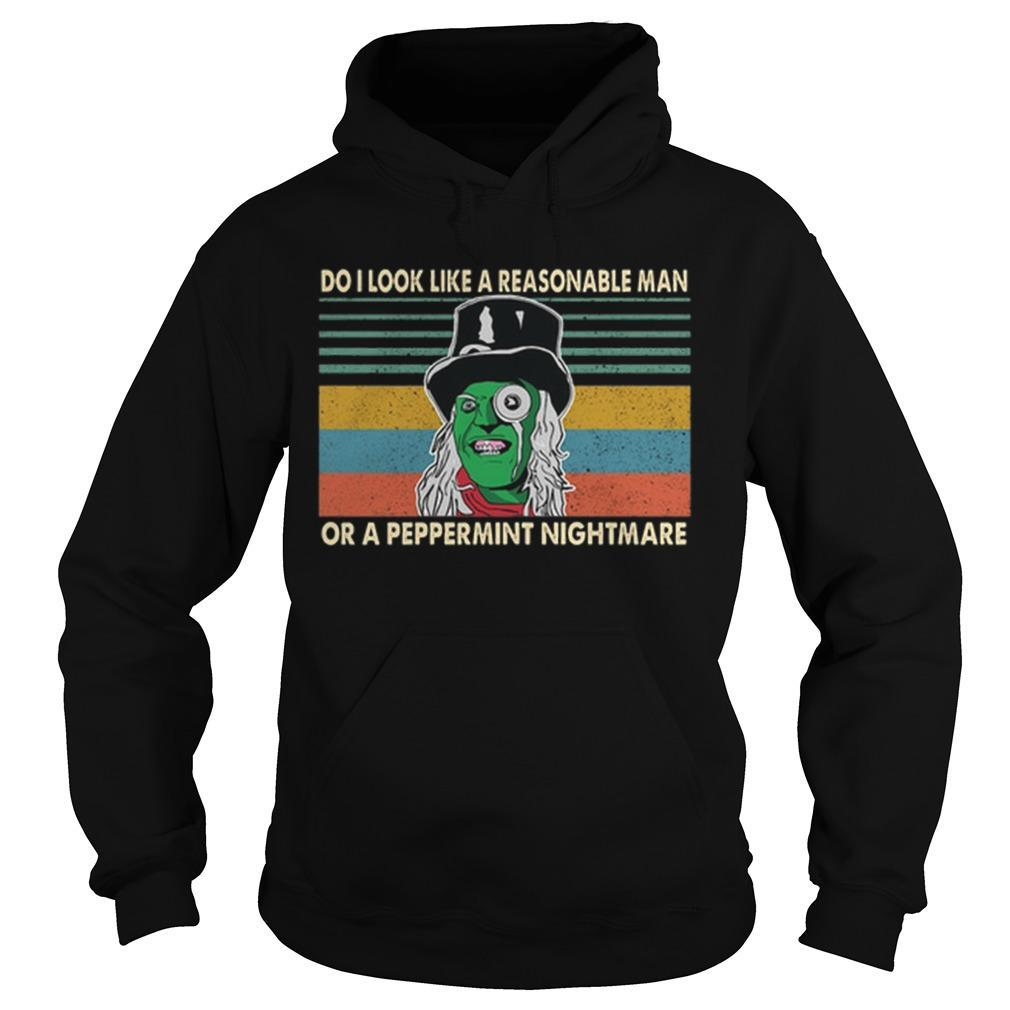 Vintage Mighty Boosh Do I Look Like A Reasonable Man Or A Peppermint Nightmare Hoodie