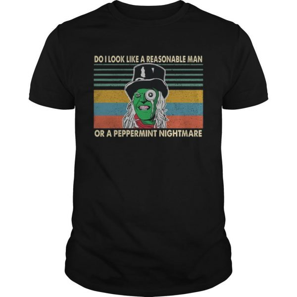 Vintage Mighty Boosh Do I Look Like A Reasonable Man Or A Peppermint Nightmare Shirt