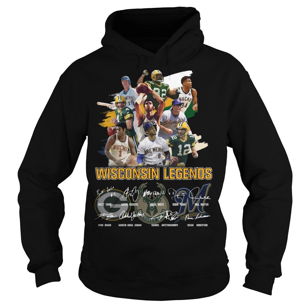 Wisconsin Legends Signatures Hoodie