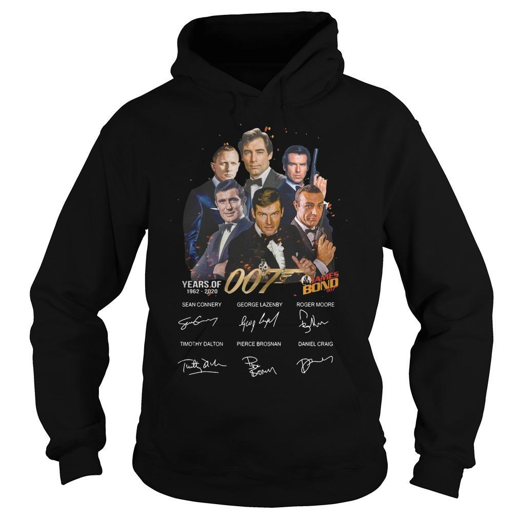 Years Of 007 James Bond 1962 2020 Signatures Hoodie