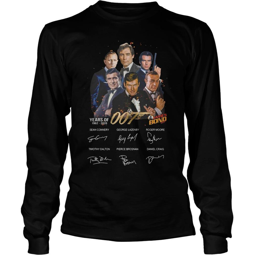 Years Of 007 James Bond 1962 2020 Signatures Longsleeve