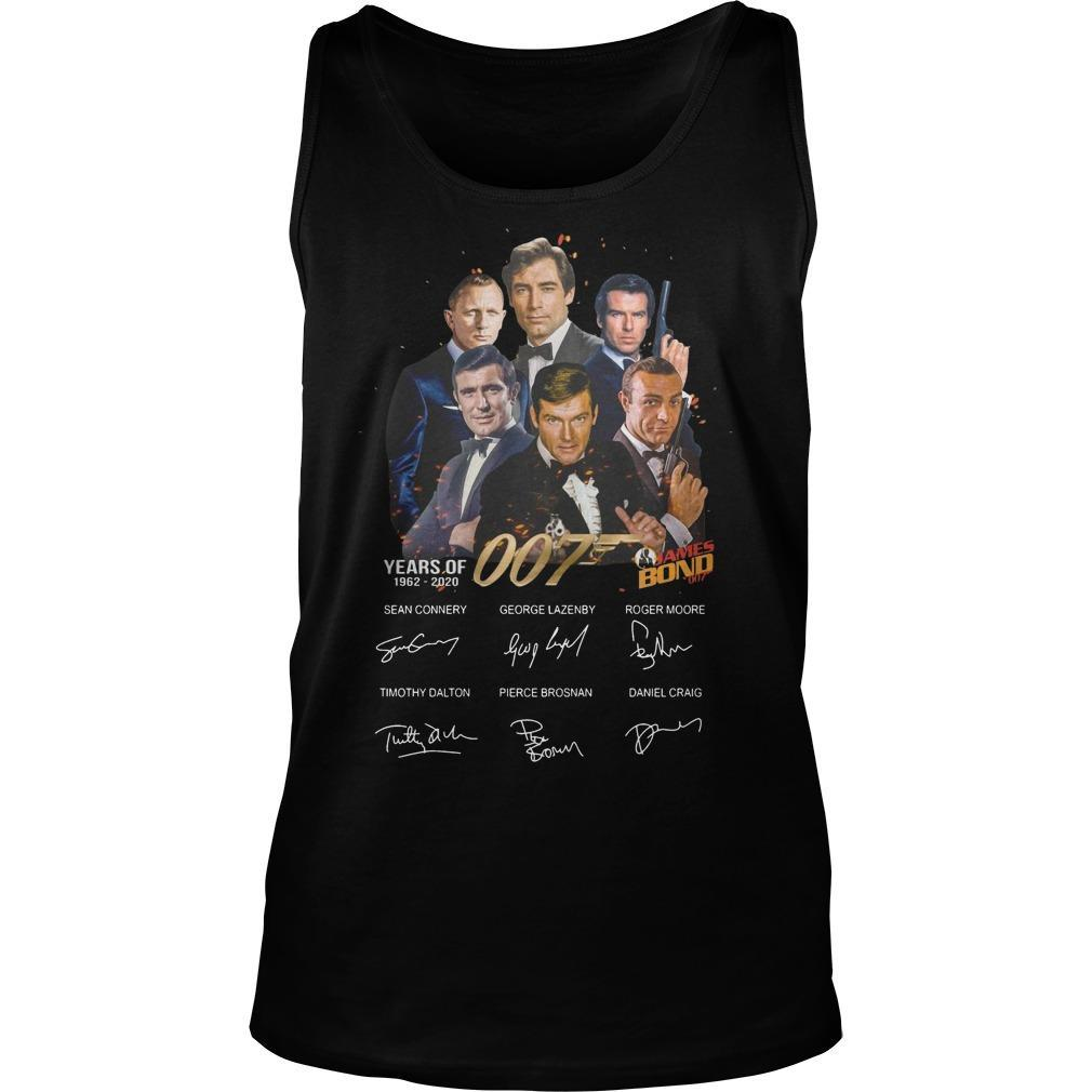 Years Of 007 James Bond 1962 2020 Signatures Tank Top