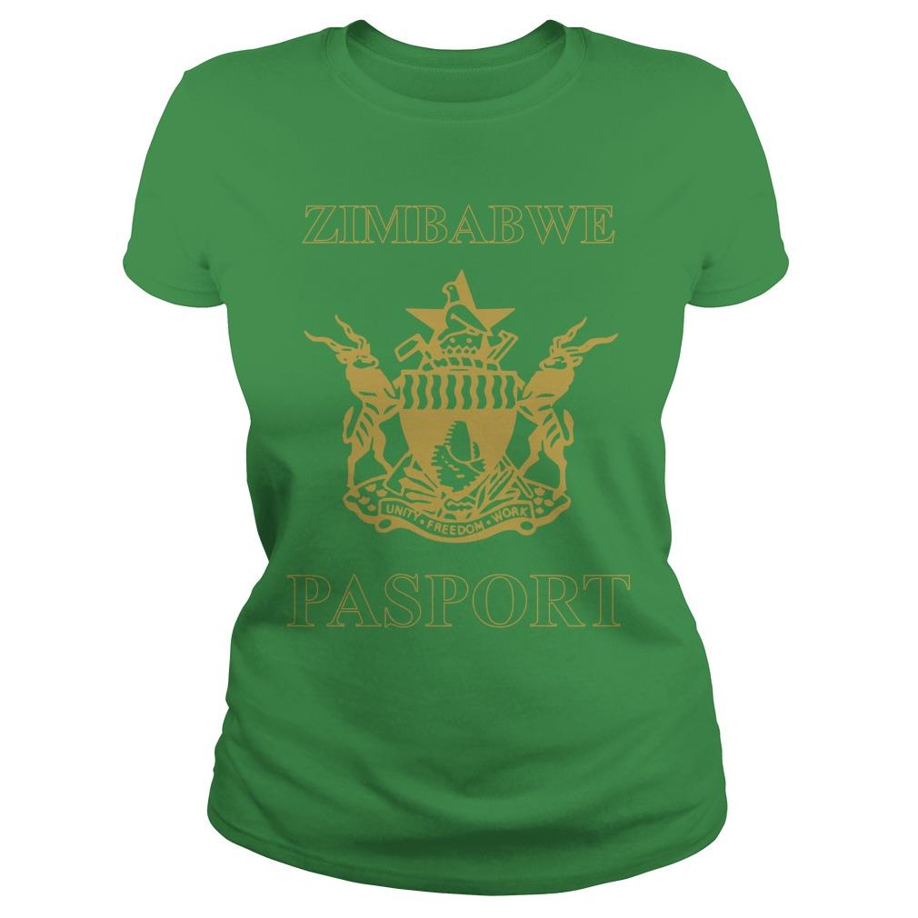 Zimbabwe Passport Branded Ladies Shirt