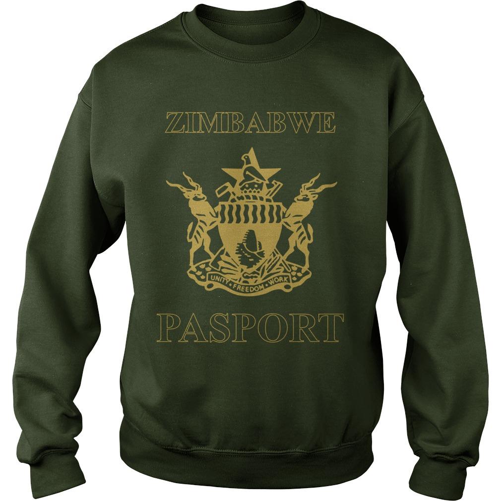 Zimbabwe Passport Branded Sweater