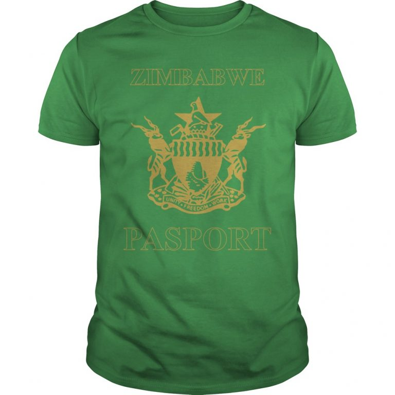 Zimbabwe Passport Branded T Shirt