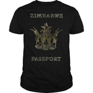 Zimbabwe Passport Branded T Shirt