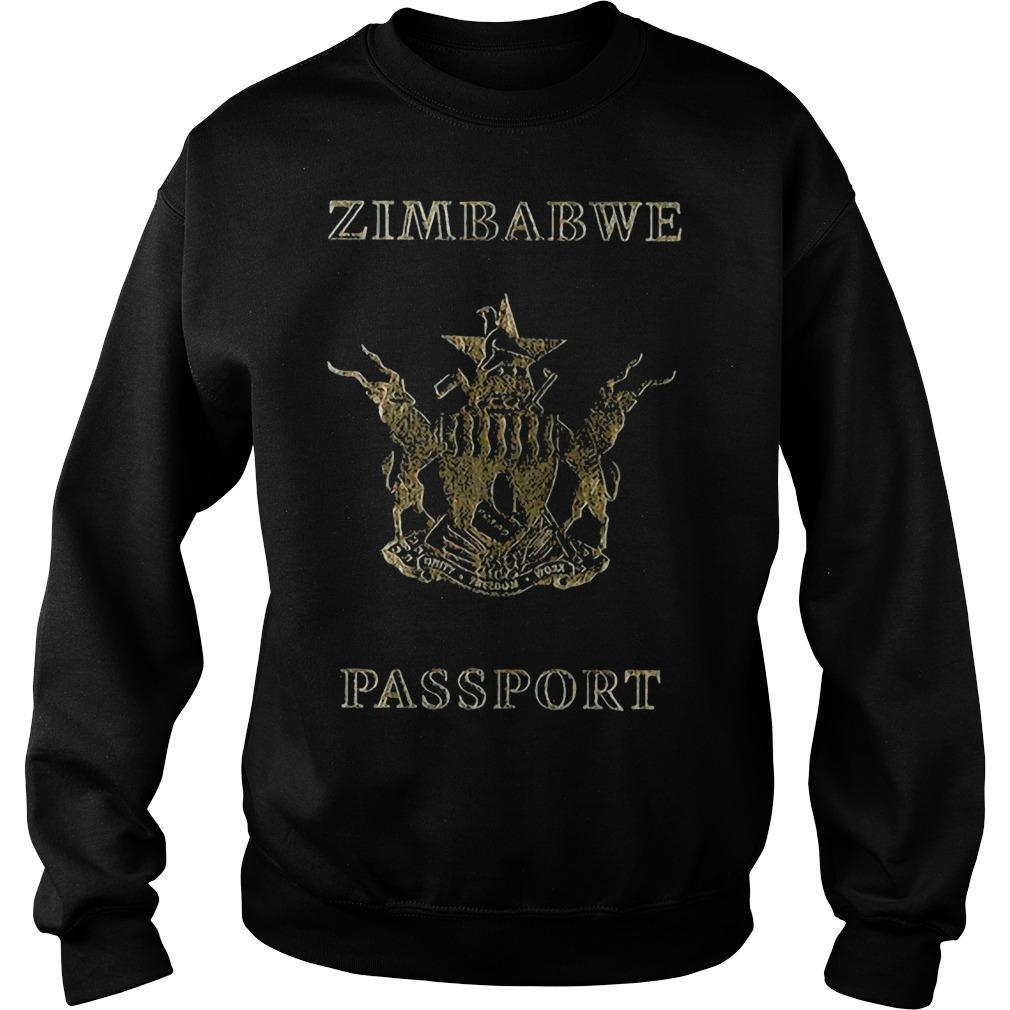 Zimbabwe Passport Branded T Sweater