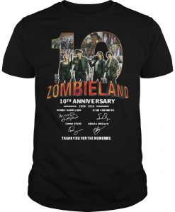 Zombieland 10th Anniversary 2009 2019 Thank You For The Memories Shirt
