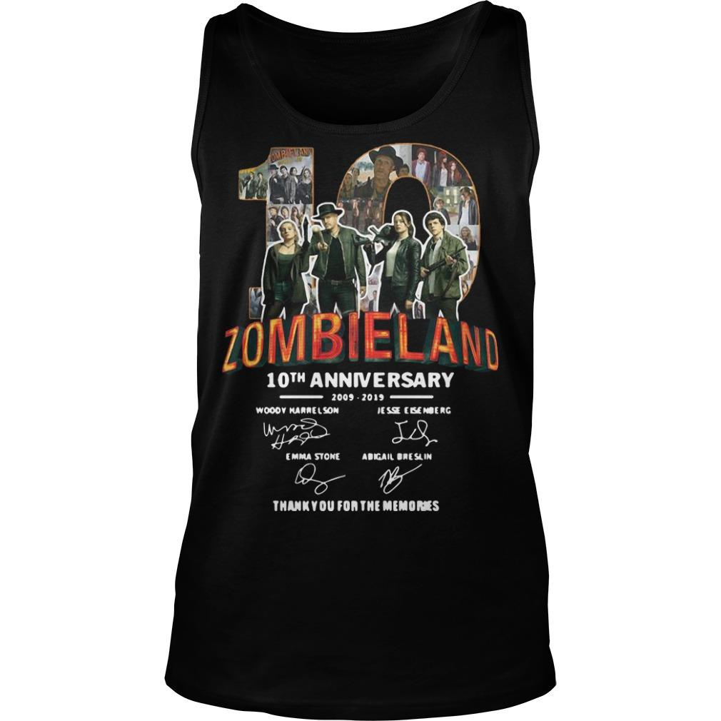 Zombieland 10th Anniversary 2009 2019 Thank You For The Memories Tank Top