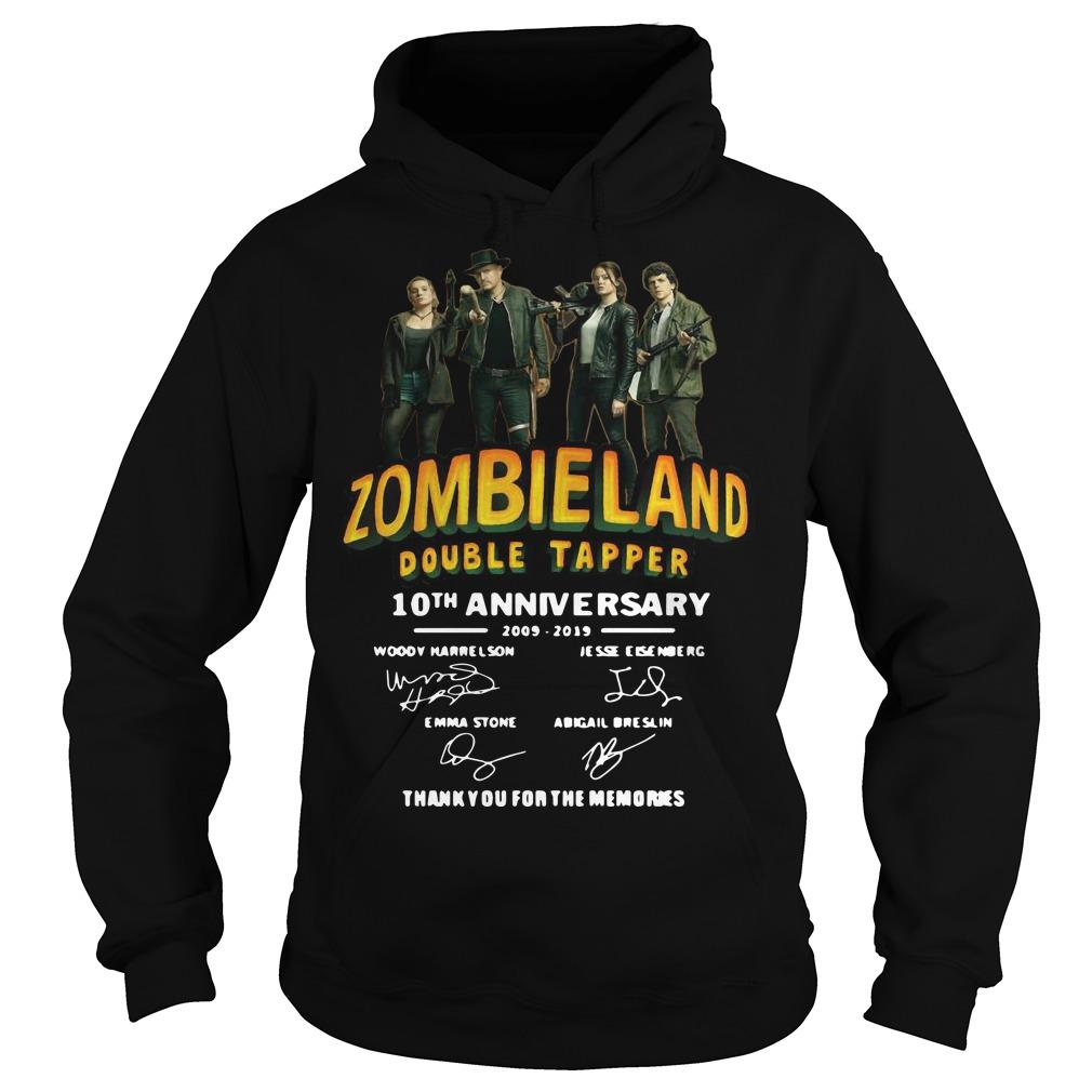Zombieland Double Tapper 10th Anniversary Thank You For The Memories Hoodie