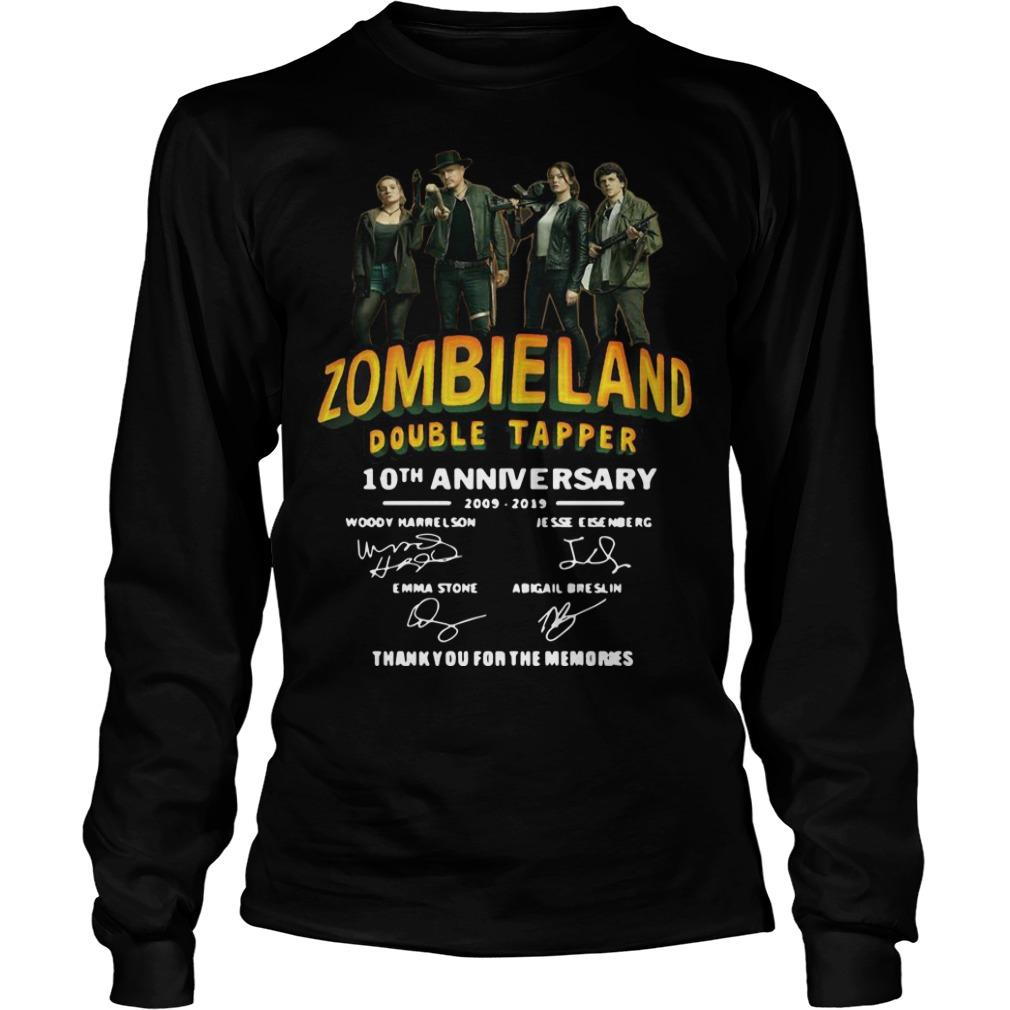 Zombieland Double Tapper 10th Anniversary Thank You For The Memories Longsleeve