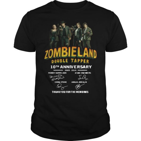 Zombieland Double Tapper 10th Anniversary Thank You For The Memories Shirt