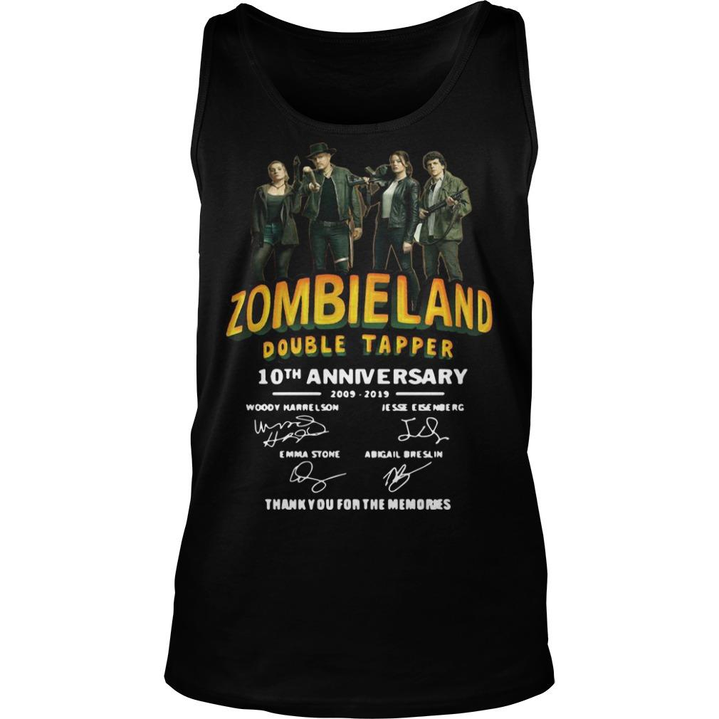 Zombieland Double Tapper 10th Anniversary Thank You For The Memories Tank Top