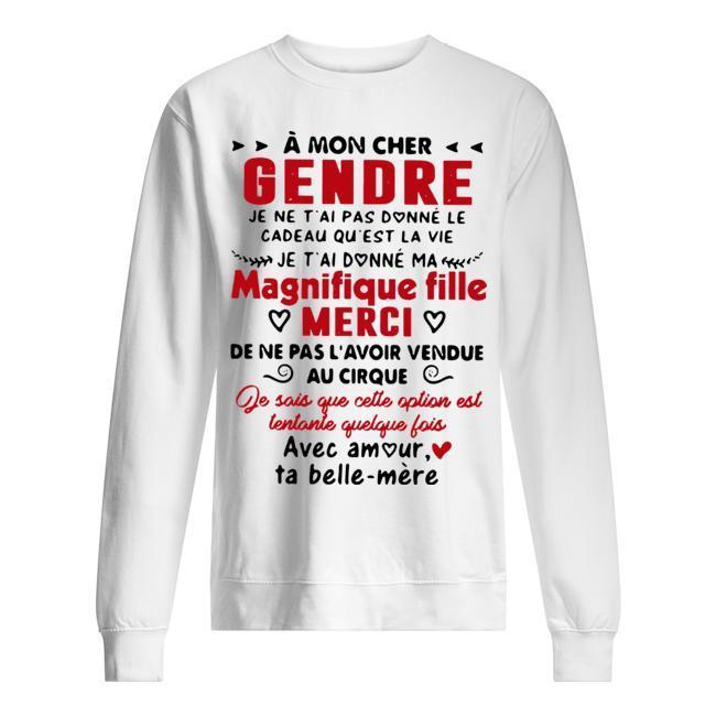 À Mon Che Gendre Magnifique Fille Merci Sweater