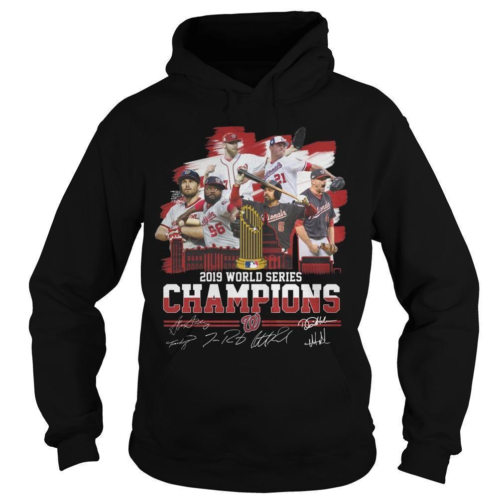 2019 World Series Champions Signatures Hoodie