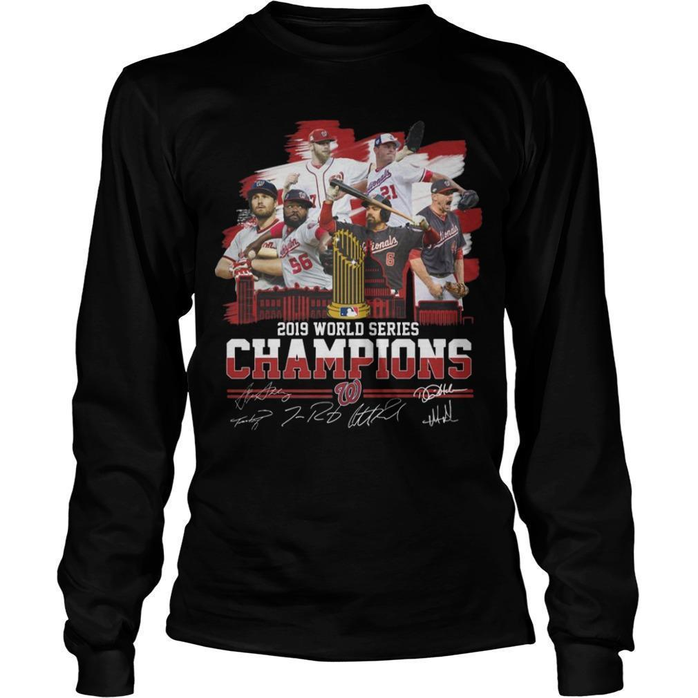 2019 World Series Champions Signatures Longsleeve