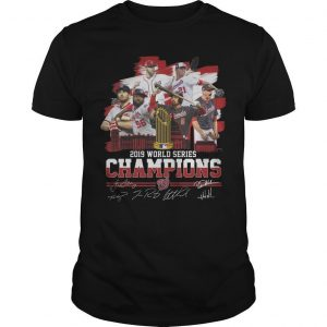 2019 World Series Champions Signatures Shirt