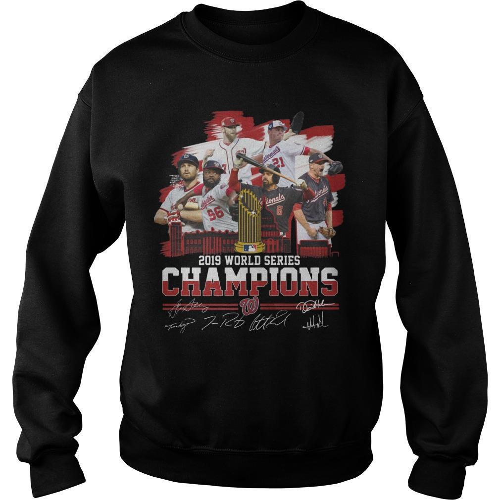 2019 World Series Champions Signatures Sweater