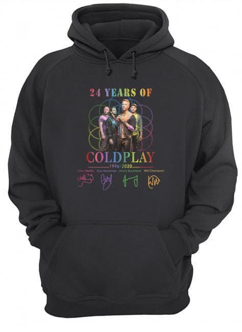 24 Years Of Coldplay 1996 2020 Signatures Hoodie