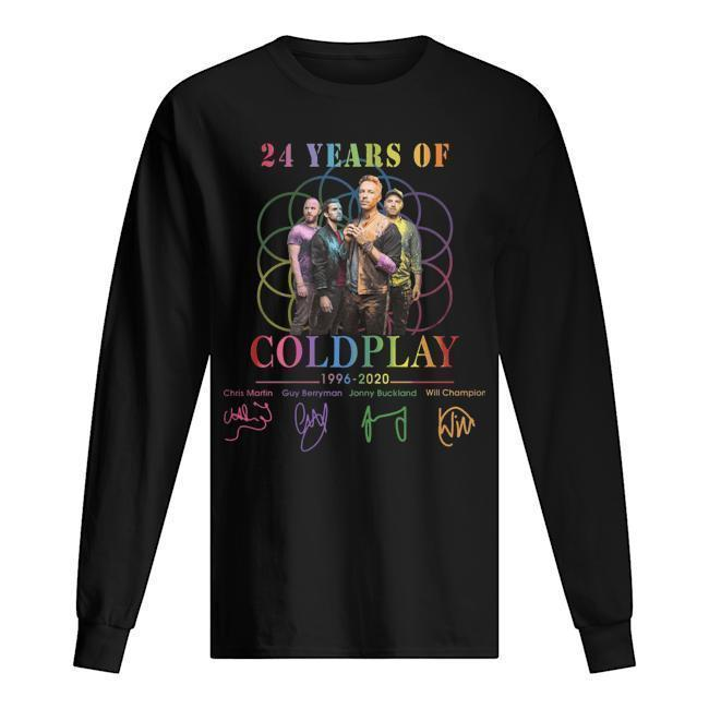 24 Years Of Coldplay 1996 2020 Signatures Longsleeve