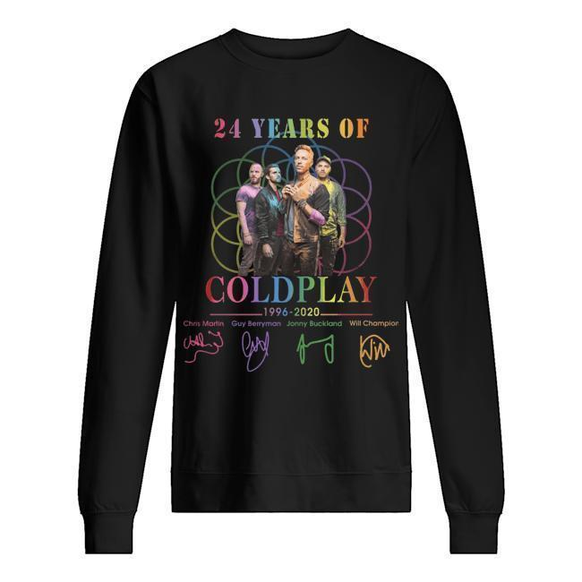 24 Years Of Coldplay 1996 2020 Signatures Sweater