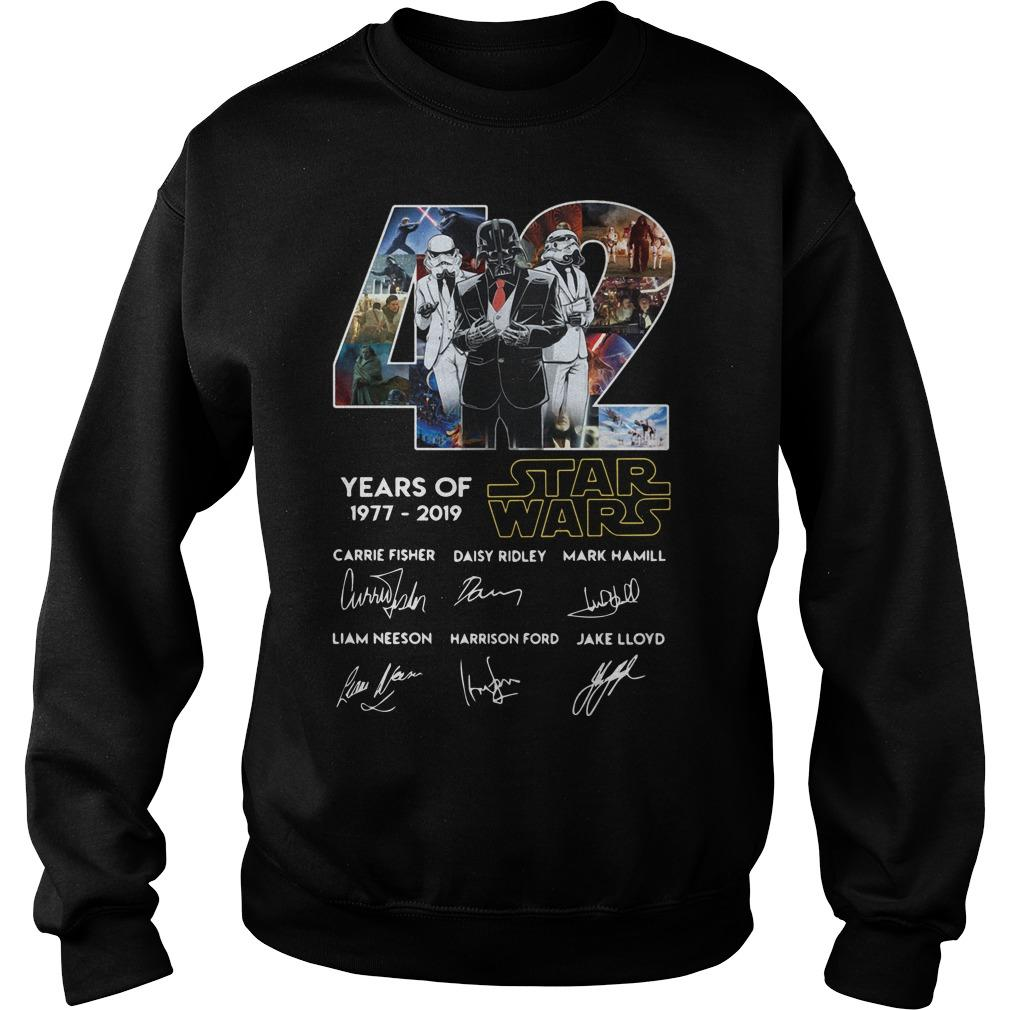 42 Years Of Star Wars 1977 2019 Signatures Sweater