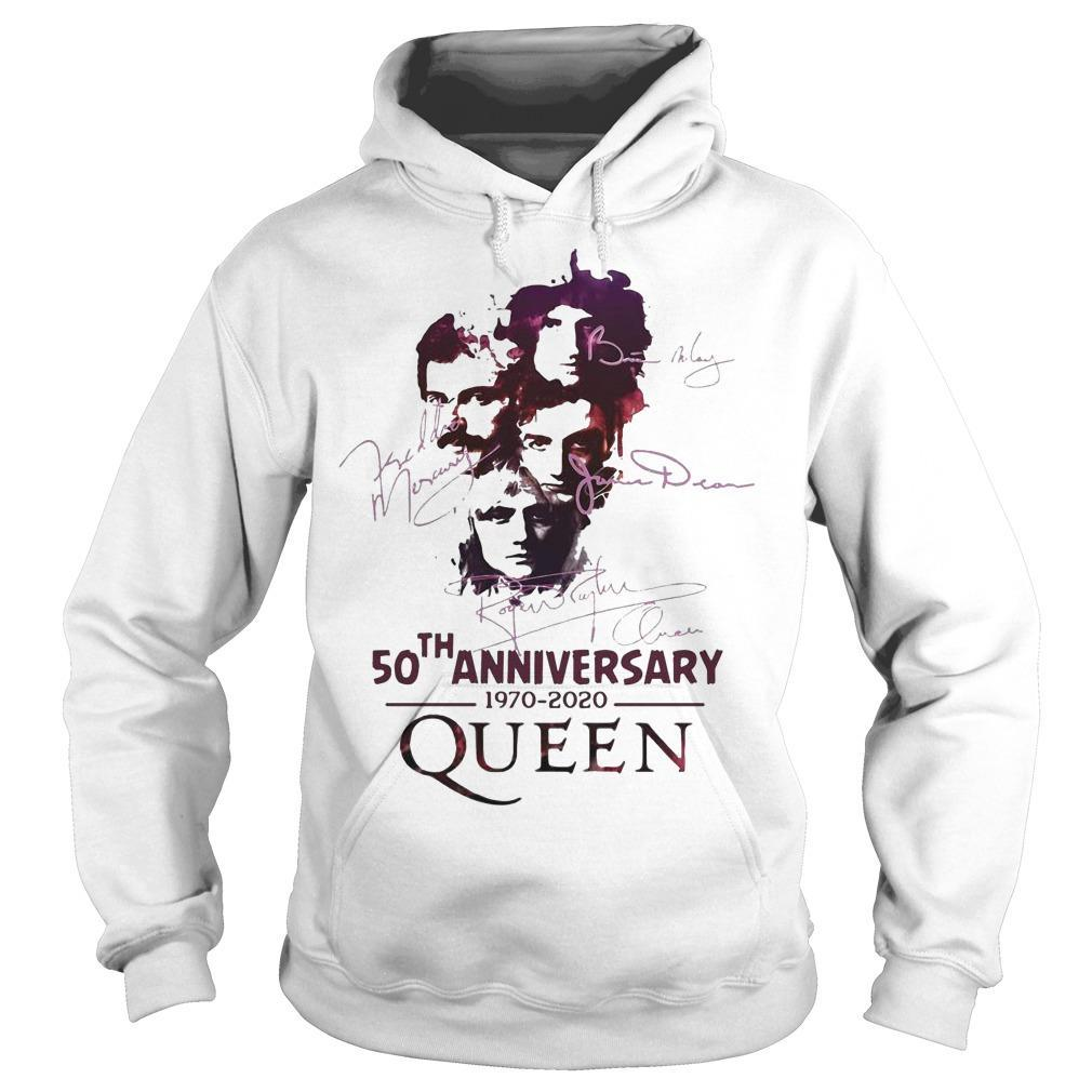50th Anniversary Queen 1970 2020 Signatures Hoodie