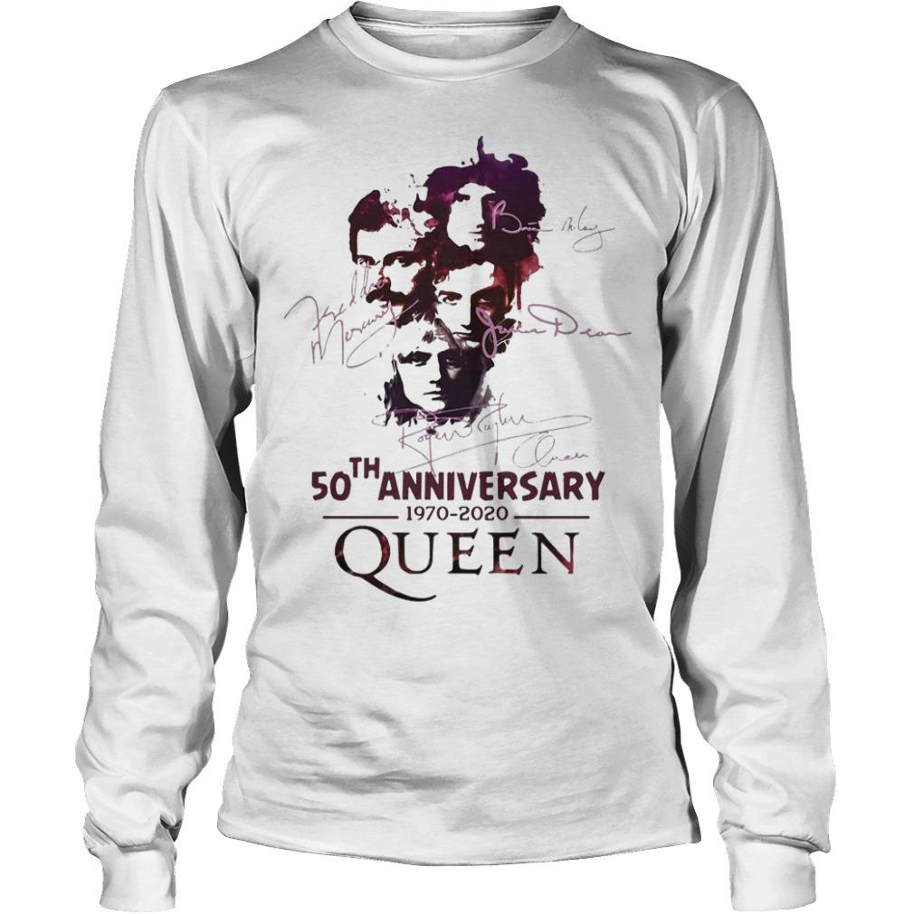 50th Anniversary Queen 1970 2020 Signatures Longsleeve