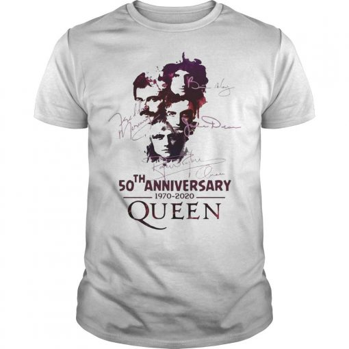 50th Anniversary Queen 1970 2020 Signatures Shirt