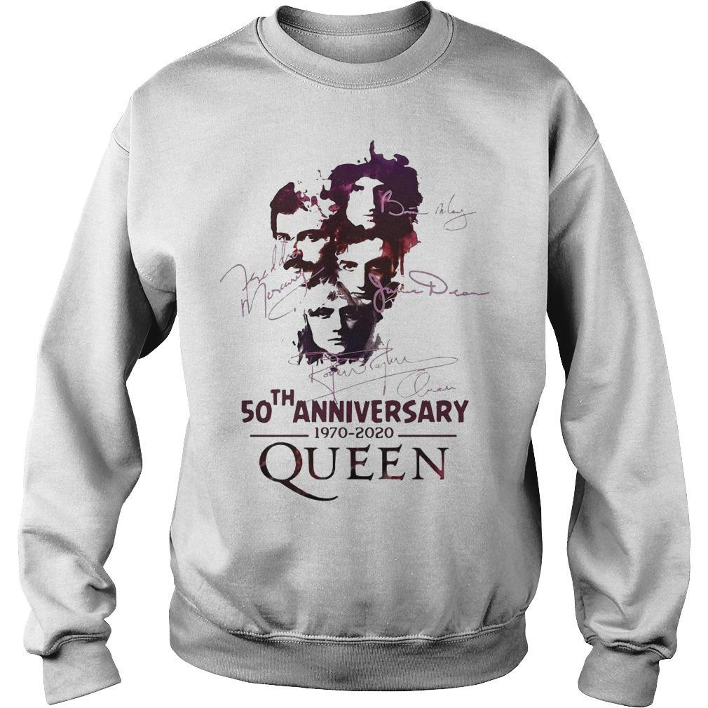 50th Anniversary Queen 1970 2020 Signatures Sweater