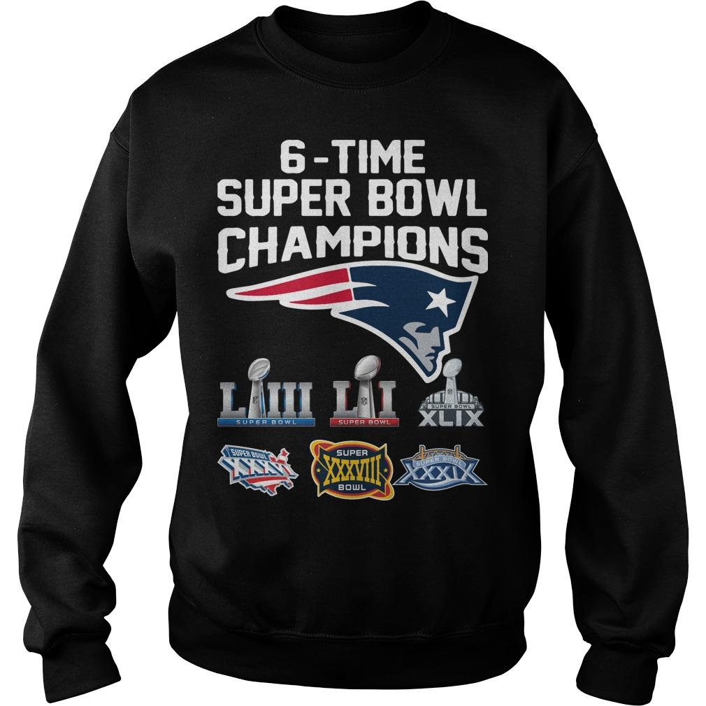 6 Time Super Bowl Champions New England Patriots Sweater