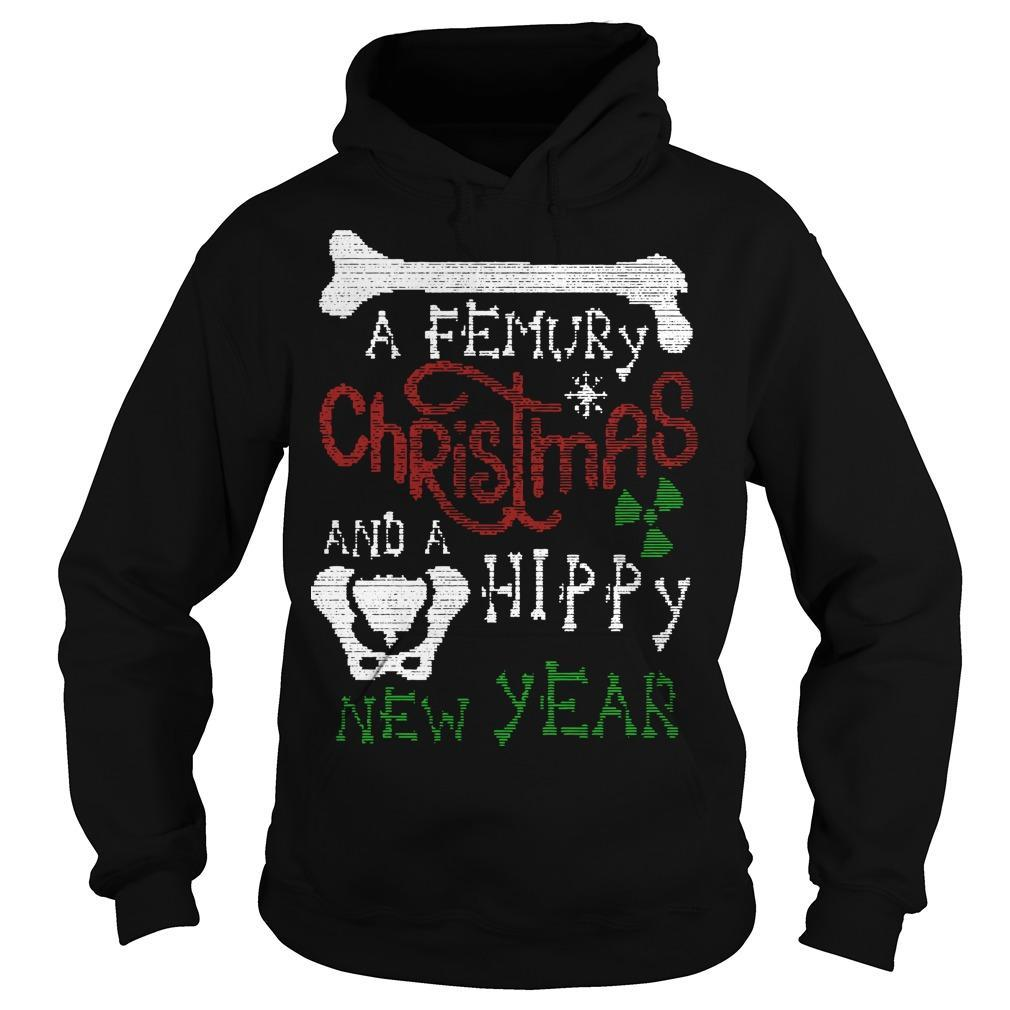 A Femury Christmas And A Hippy New Year Hoodie
