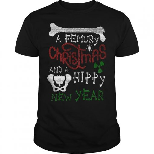 A Femury Christmas And A Hippy New Year Shirt