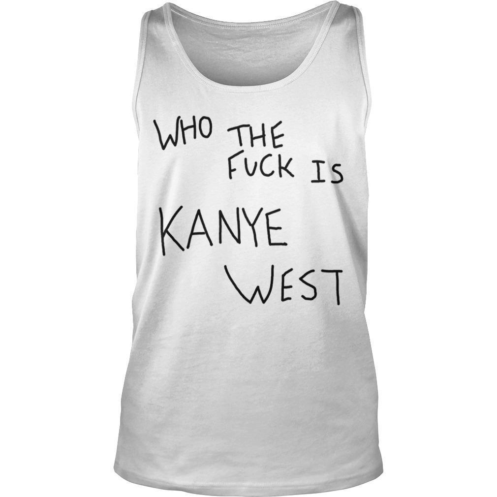 Album Cover Who The Fuck Is Kanye West Tank Top