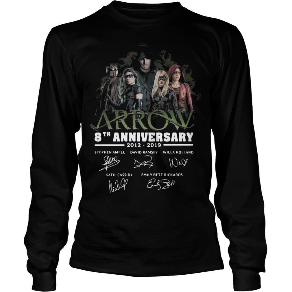 Arrow 8th Anniversary 2012 2019 Signatures Longsleeve