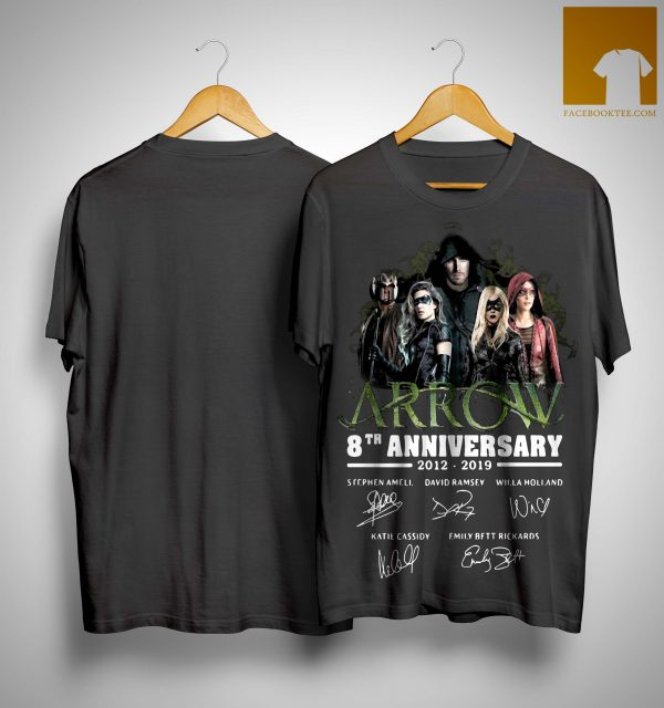 Arrow 8th Anniversary 2012 2019 Signatures Shirt