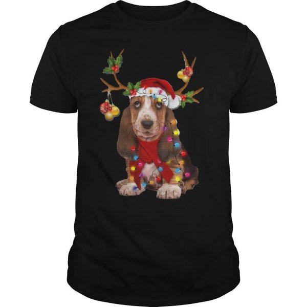 Basset Hound Reindeer Christmas Shirt