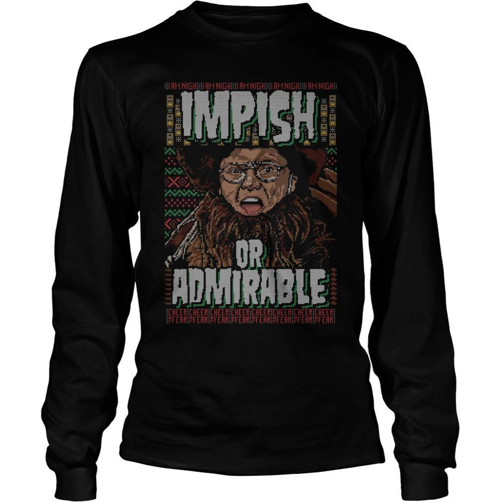 Belsnickel Impish Or Admirable Ugly Christmas Longsleeve