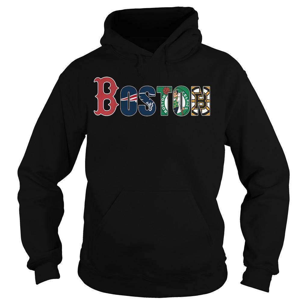 Boston Red Sox New England Patriots Celtics Bruins Hoodie