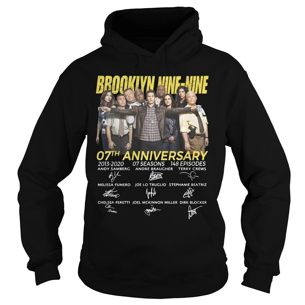 Brooklyn Nine Nine 07th Anniversary Signatures Hoodie