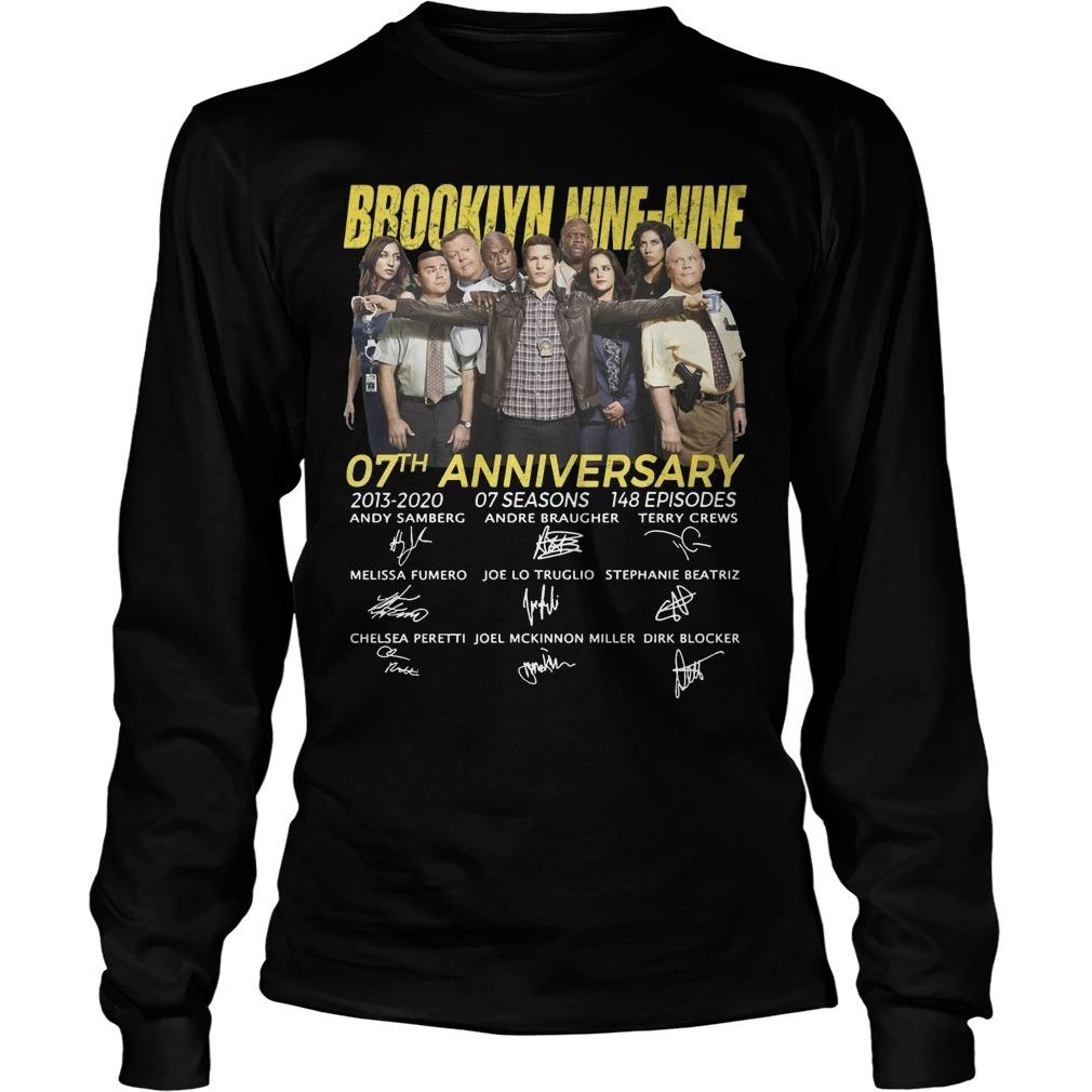 Brooklyn Nine Nine 07th Anniversary Signatures Longsleeve