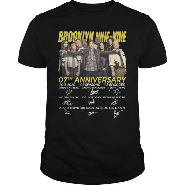 Brooklyn Nine Nine 07th Anniversary Signatures Shirt