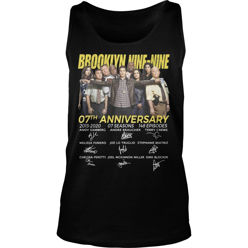 Brooklyn Nine Nine 07th Anniversary Signatures Tank Top
