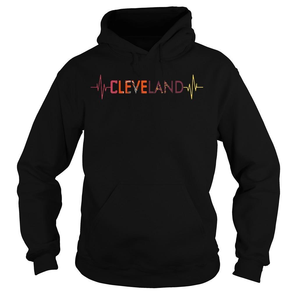 Browns Cavaliers Heartbeat Cleveland Indians T Hoodie