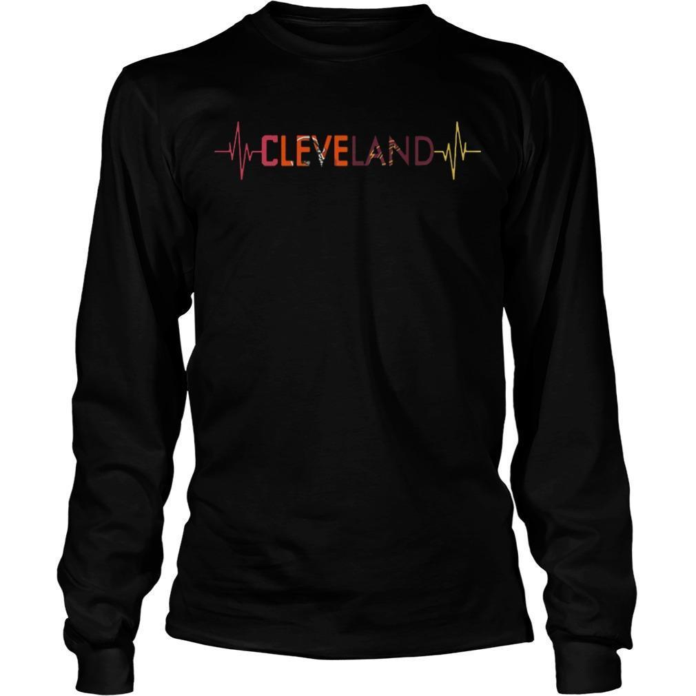 Browns Cavaliers Heartbeat Cleveland Indians T Longsleeve