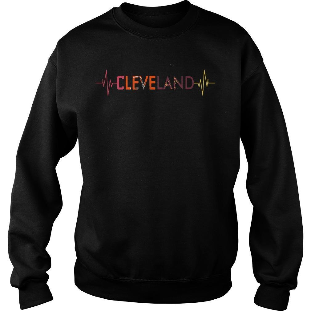 Browns Cavaliers Heartbeat Cleveland Indians T Sweater