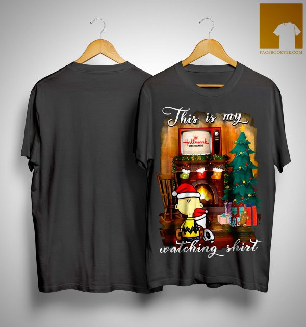Charlie Brown Snoopy This Is My Hallmark Christmas Movie Watching Shirt
