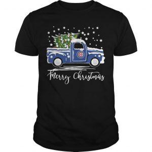 Chicago Cubs Truck Merry Christmas Shirt