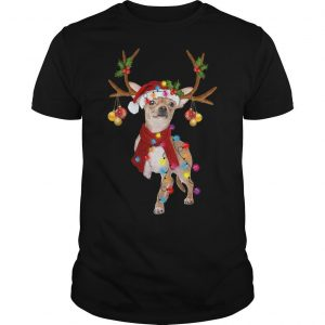 Chihuahua Reindeer Christmas Light Shirt
